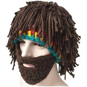 Beard Hat Creative Knitted Mask